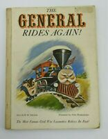 Vintage Children's Book Civil War Locomotive General Rides Again 1962