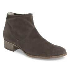 NWOT Paul Green Dark Grey Suede Logan Booties Cushion Footbed Arch Support Sz 9