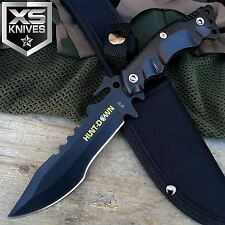 """10"""" Hunt Down Black Full Tang Stainless Steel Survival Hunting Tactical Knife"""