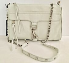 NWT REBECCA MINKOFF LEATHER OFF WHITE FULL SIZE MAC CLUTCH SHOULDER CROSSBODY