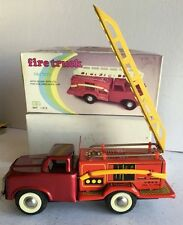 FIRE ENGINE LADDER TRUCK Tin Friction Ford Toy Car NIB!!! MF-163 China