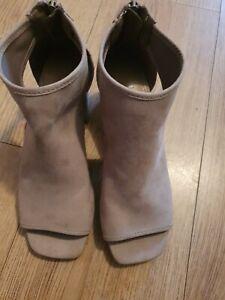 Next beige Ladies Wedge open toe Boot / Shoes UK Size 3.5
