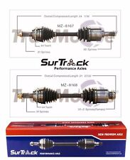 Mazda 6 AWD 2006-2007 Mazdaspeed Pair of Front CV Axle Shafts SurTrack Set