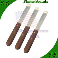 3 Plaster Spatula Curved Tip Surgical Dental Tools