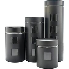 Purelife 4 Piece Stainless Steel With Glass Canister Set - 16 Fl Oz Food