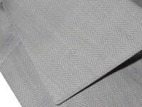 $695 NWT BRIONI GRAY & WHITE HERRINGBONE DIAMOND ACCENTS DRESS SHIRT EU 44 17.5
