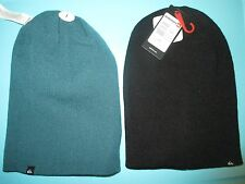 NEW* QUIKSILVER Revolution BEANIE Cap HAT MENS REVERSIBLE OSFA S M L Black Green