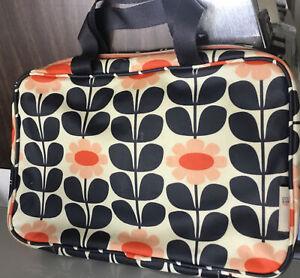Orla Kiely Etc Target Multicolor Floral Zippered Travel Cosmetics Bag L05