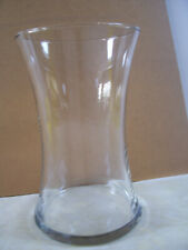 """Clear Beta Fish Bowl Flower Vase Glass Large 8"""" Tall X 5"""" Wide Top & Bottom"""