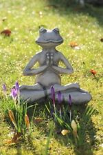 Yoga Frosch Der Lotus aus Steinguss Breite ca. 24 cm Höhe ca. 22 cm Gewicht 2,5