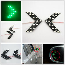 2 pcs Green LED Arrow Lights 14 SMD Car Side Mirror Turn Indicators For Peugeot