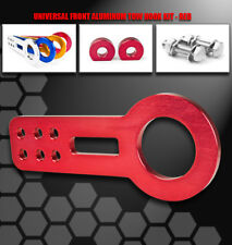 FRONT ALUMINUM BUMPER RACE TOW HOOK RED FOR ACURA CHEVY DODGE EAGLE FORD HONDA