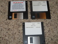 "Radix Beyond the Void (PC) 3.5"" floppy disks share ware version"