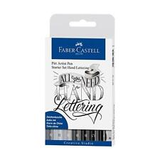 FABER-CASTELL INCHIOSTRO DI CHINA Pitt Artist Pens-Hand Lettering 9pcs 267118