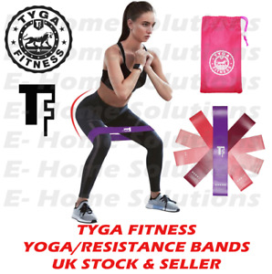 TYGA FITNESS Resistance Yoga Bands Loop Sports Home Gym Latex Set or Singles