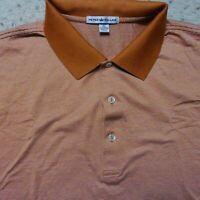 PETER MILLAR Golf Polo Shirt Men's XLarge 100% Cotton Striped Short Sleeve