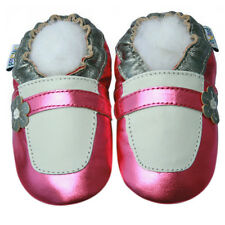 Littleoneshoes Soft Sole Baby Shoes Toddler Infant Maryjane Metallic Pink 0-6M