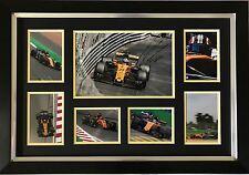 NICO HULKENBERG HAND SIGNED AUTOGRAPH FRAMED PHOTO DISPLAY RENAULT F1 2017.