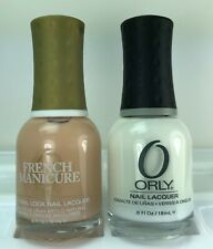 ORLY Nail Polish DEJA VU 42494 & WHTE OUT 40632 French Manicure DUO Lacquer