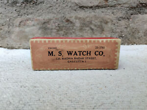 Vintage M.S. Watch Co. Paper Cardboard Box watch Advertising Collectable