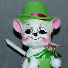 New listing Annalee Doll Mouse Spring Saint Patrick's Day Green Hat Flowers Nwt Usa Seller