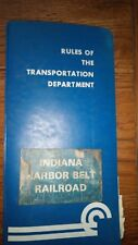 Rules of the Transportation Department  Indiana Harbor Belt Road  1979