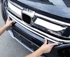 For Honda CRV CR-V 2017-2020 Chrome Car Front Center Grille Molding Cover 2PCS