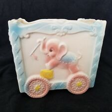 Vtg  Napco Circus Train Wagon Baby Boy Girl Planter Elephant Horse Poodle Kitsch