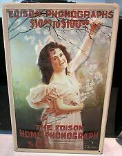 Die Edison Heim ✿ Mädchen, Geprägt (3D) Vintage Stil Zeichen, 30.5cmx 20.3cm