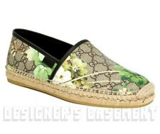 GUCCI men 7.5 BLOOMS GG Supreme canvas ALEJANDRO espadrille shoes NIB Authentic!