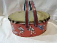Old Metal Sports Themed Lunch Box Ohio Art 33