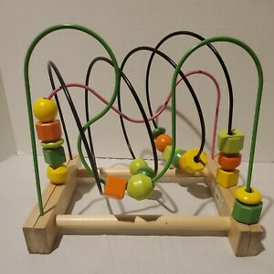 Educational Toy - IKEA Mula Wooden Rollercoaster Bead Toy Kids/Child/ 18 months+