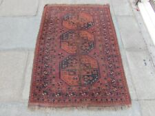 Antique Shabby Chic Worn Hand Made Traditional Oriental Wool Red Rug 145x105cm