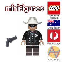 Genuine LEGO® Minifigure - The Lone Ranger + revolver/gun - (Disney) - NEW