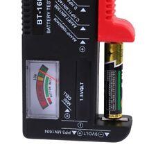 Digital LCD Battery Checker Volt Tester Cell AA AAA C D 9V Button Universal D5C