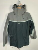 MENS HELLY HANSEN SIZE LARGE GREY CASUAL WATERPROOF WINTER HOOD RAINCOAT JACKET