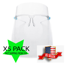 """Face Shield """" 5 sets"""" / Safety Clear Glasses Protector with Frames"""