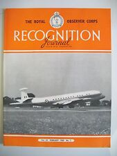 The Royal Observer Corps Recognition Journal. Vol. 10. No. 2. February, 1968.