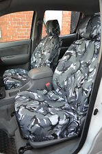 Toyota Hilux Double Cab 2005-2016 Grey Camo Tailored Front & Rear Seat Covers