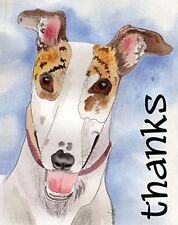 Sue Monahan Happy Dog Art Thank You Cards Set of 4