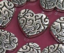Beads Perlen Metallperlen FANCY HEART  Tibetperlen  Herz Herzen Schmuck basteln