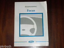 Betriebsanleitung / Handleiding / Instructieboekje Ford Focus ,Stand 1998