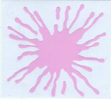 AUTOCOLLANT STICKER TUNING TRIBAL TACHE ROSE PINK DIM. 10 X 10 CMS