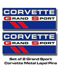 Corvette Grand Sport Metal Lapel Pins, full color, set of TWO with FREE Shipping