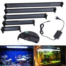 30-118 cm Eclairage Aquarium Poisson Rampe LED Eau Douce Lumière 8500K