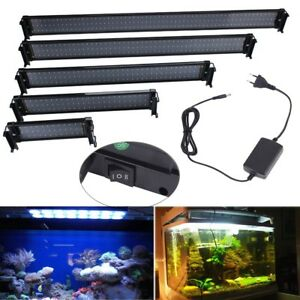 30-118 cm Eclairage Aquarium Poisson Rampe LED Eau Douce Lumière 8500K FR