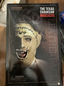Sideshow Collectibles Texas Chainsaw Massacre Leather Face New