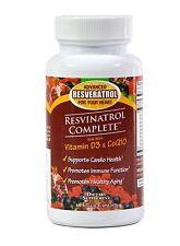 Resvinatrol Complete Veggie Capsules-Resveratrol, CoQ10, Vitamin D3, Beet Juice