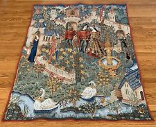 King Arthur Knights Round Table French Wall Tapestry Point de Loiselles Royal