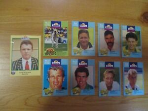 BUTTERCUP BREAD CEREAL TRADING CARDS: CRICKET PLAYERS.